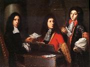 Anton Domenico Gabbiani Portrait of Musicians at the Medici Court oil painting